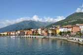 Gravedonna město na slavné italské jezero como