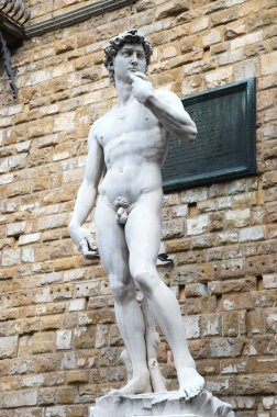 David by Michelangelo, replica in Florence plaza