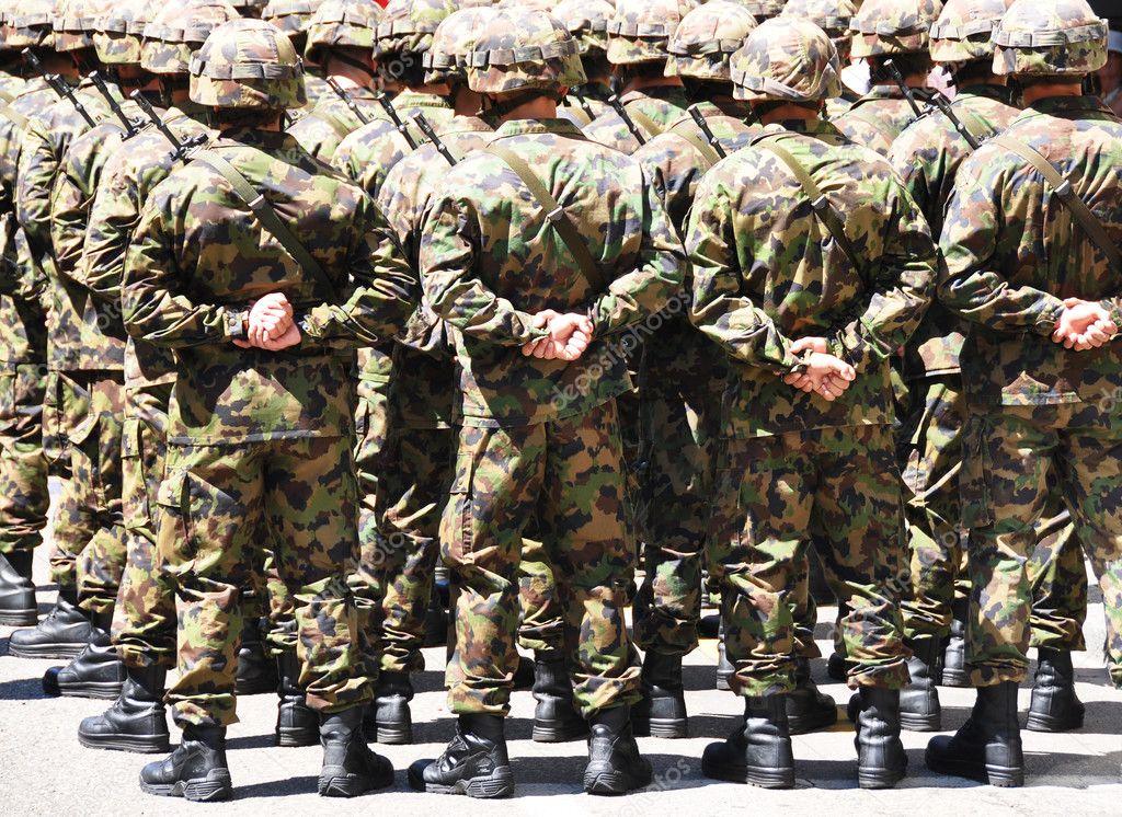 Military men stock vector