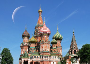 St. Basil cathedral in Moscow