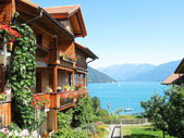 Photo Holiday houses at the lake Thun, Switzerland