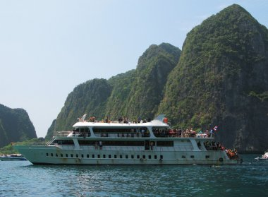 Cruiser ship at Phi-Phi island Thailand