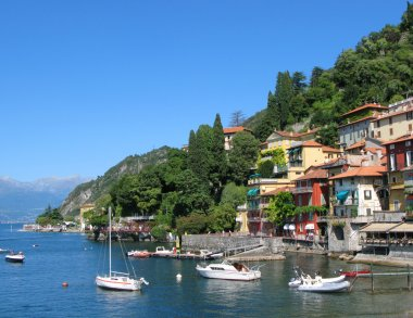 Varenna, old Italian town on the shore of the lake Como