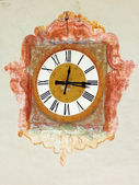 Fotografie antike Uhr in der Kirche Madonna del Sasso, Schweiz