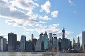 panorama Manhattanu přes hudson river