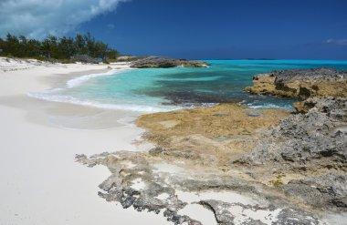 Desert beach of Little Exuma, Bahamas