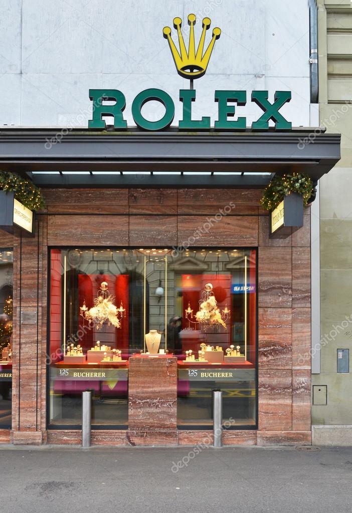 28bde5da8f04e3 Negozio Rolex, ben noto per i suoi orologi di lusso– Fotografia Editoriale  Stock