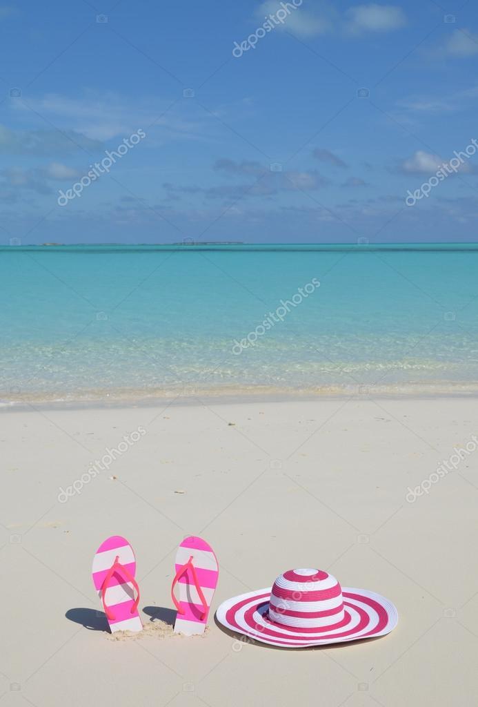 Flip-flops and hat