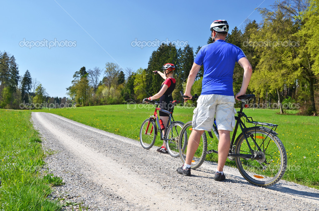 Travelers with bikes