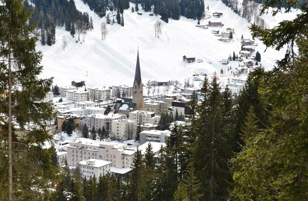 Winter view of Davos