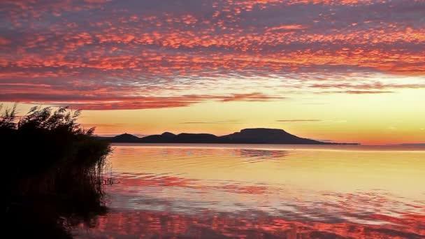 gyönyörű a sunrise ower a balaton, Magyarország