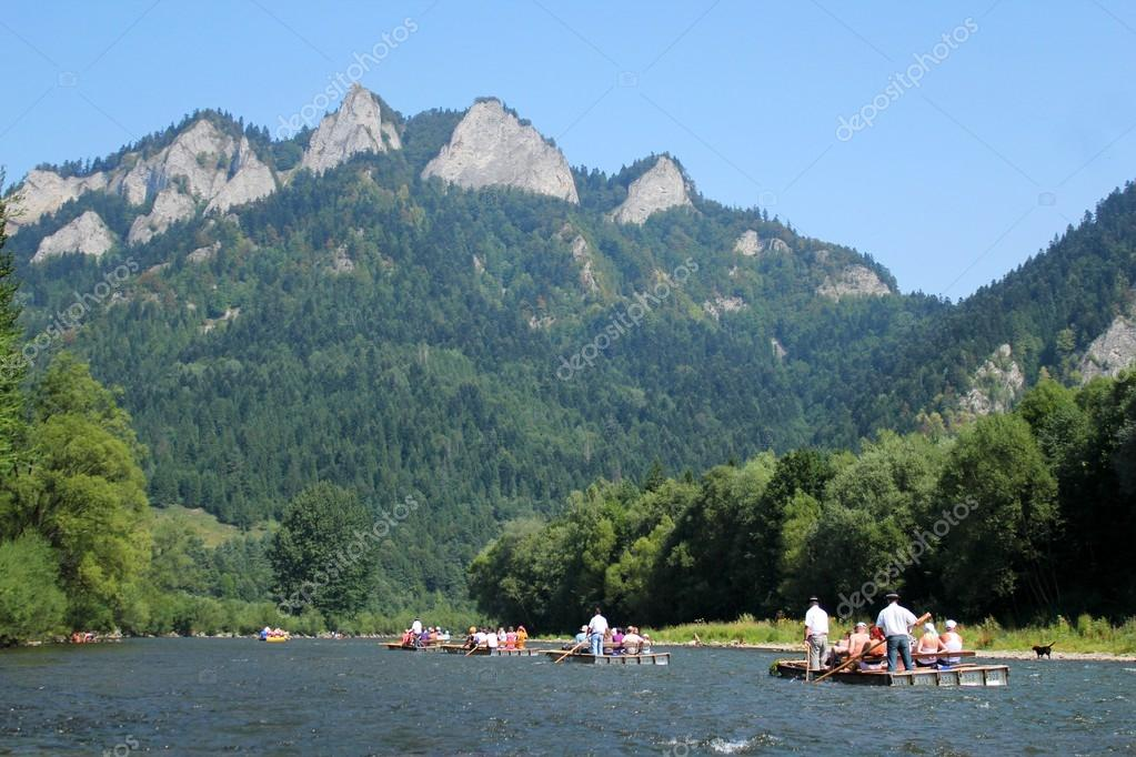 Dunajec River in Pieniny Mountains