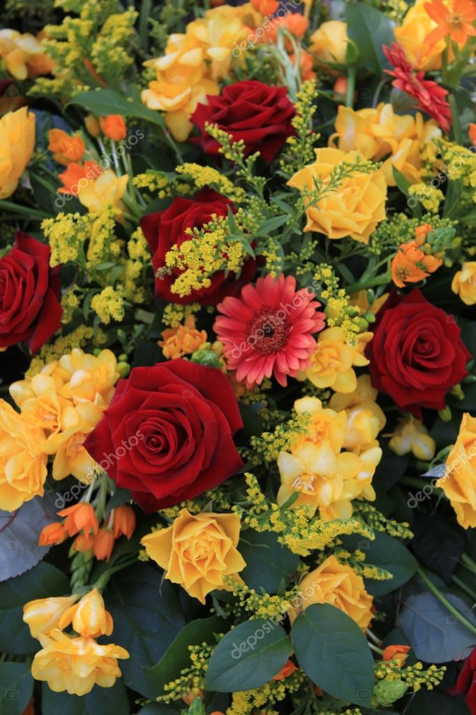Yellow and red flower arrangement stock photo portosabbia 12012702 yellow and red flower arrangement stock photo mightylinksfo