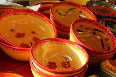 Colorful Provencal Pottery
