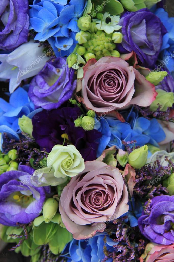 Blue And Purple Bridal Bouquet Stock Photo Portosabbia 45366175