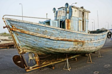 Historical spanish decoration wooden boat