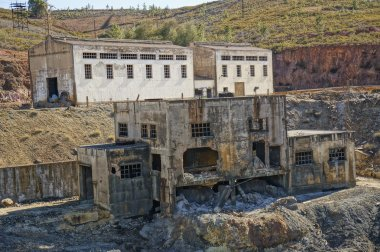 The industrial history, abandoned coal mine.