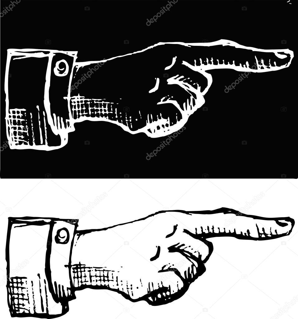 retro vintage pointing hand drawing vector illustration premium vector in adobe illustrator ai ai format encapsulated postscript eps eps format wdrfree