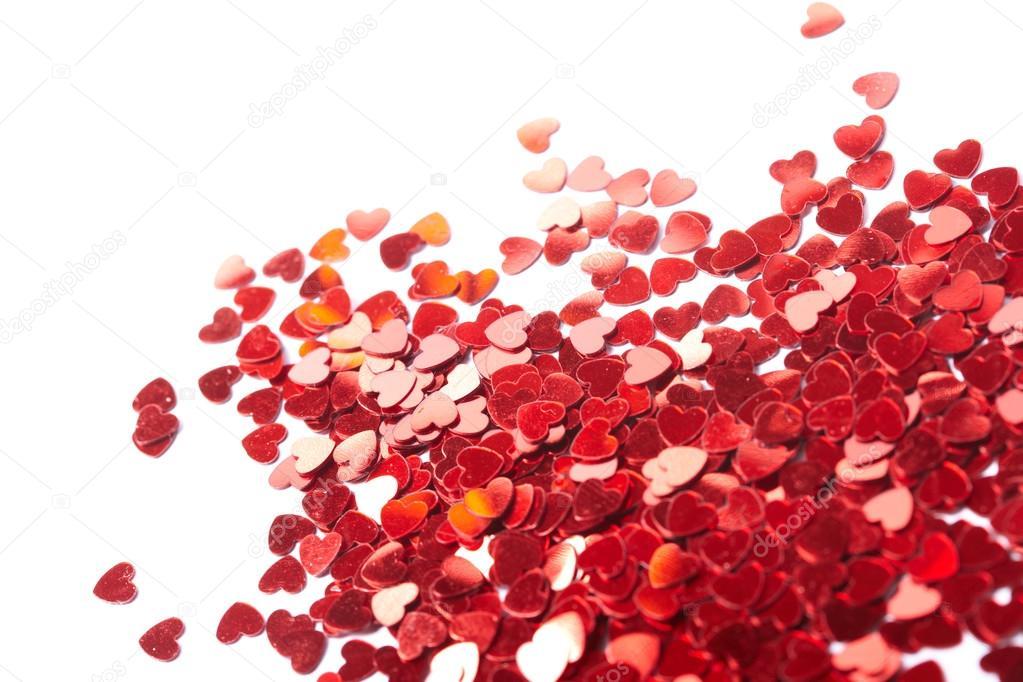 Coriandoli cuori da cuoricini rossi foto stock strelok for Immagini di cuori rossi