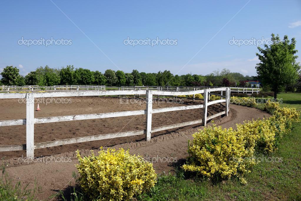 Ranch con recinto per cavalli foto stock goceristeski for Piani di ranch tentacolare
