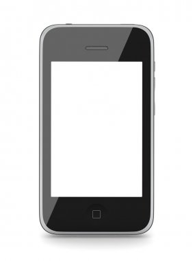 Modern cell phone isolated on white stock vector