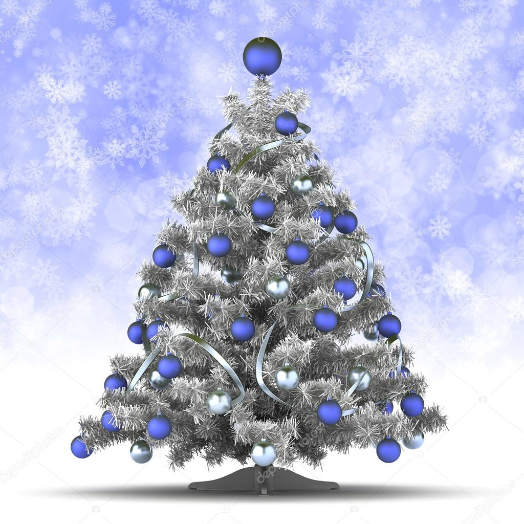 Christmas Card Template Christmas Tree On Blue Background Stock - Christmas card template blue