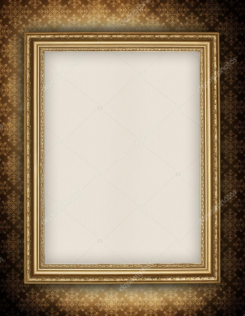 Vorlage - leeres Blatt in Bilderrahmen — Stockfoto © digieye #23356424