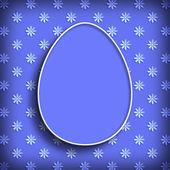 Fotografie Veselé Velikonoce - jednoduchý tvar velikonoční vajíčko