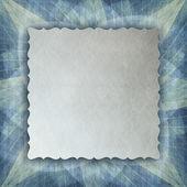 list papíru na vzorované pozadí