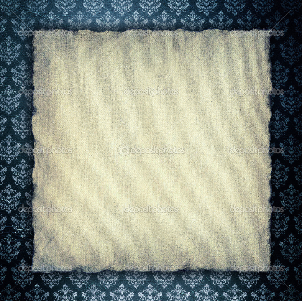 Blank Paper Sheet On Wallpaper Background Stock Photo