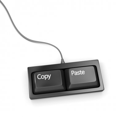 Copy paste keyboard (plagiarist tool)