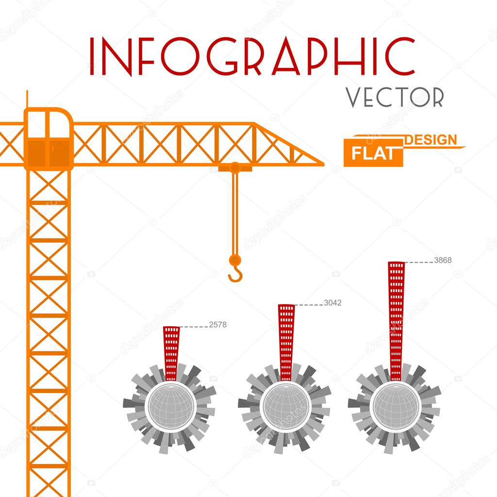Building construction infographic stock vector roman for Construction info