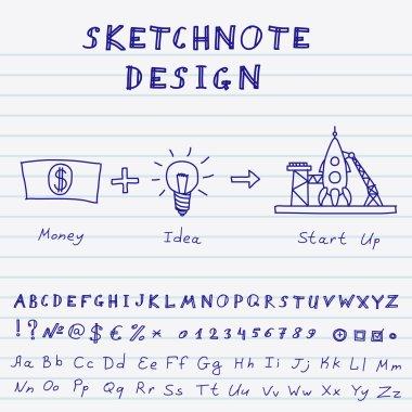 Vector Doodle Start Up Design