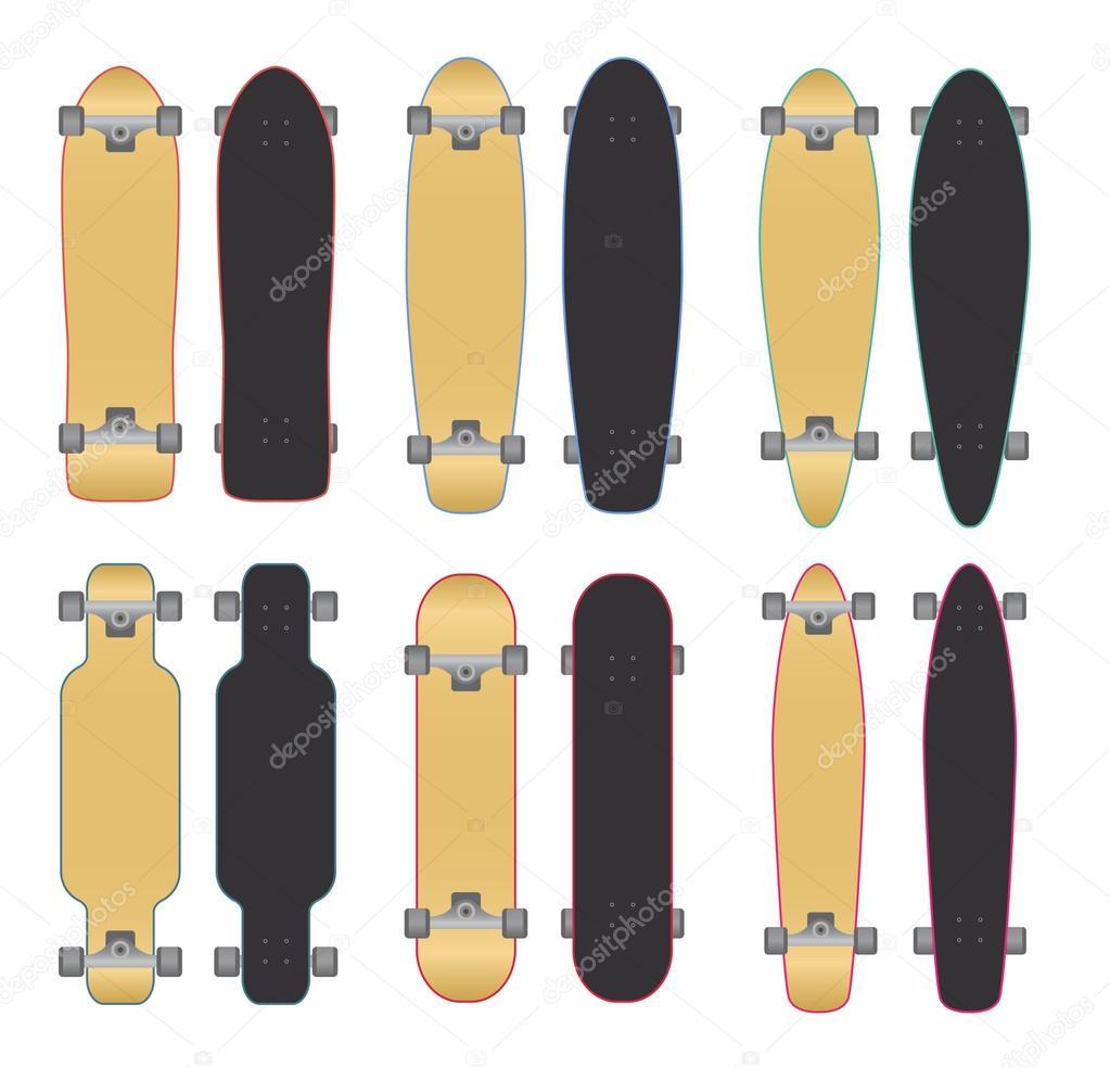Skateboards und longboards — Stockvektor © Roman_Volkov #49160607