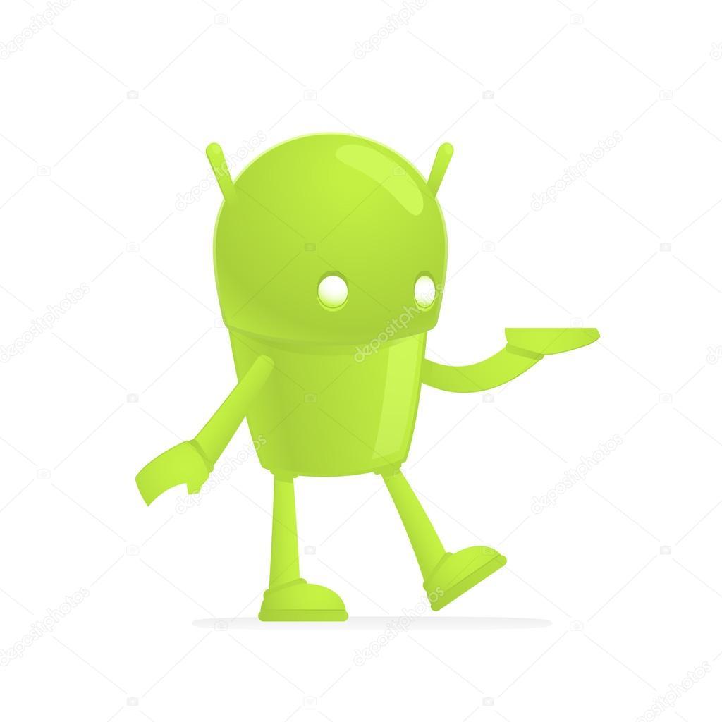 Android divertenti cartoon u vettoriali stock artenot