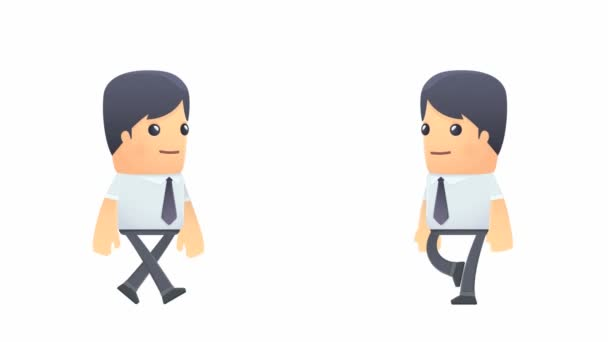 Set of businessman character in different actions