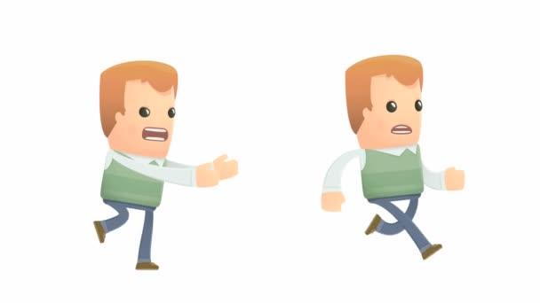 Wütender Charakter holt einen anderen Charakter ein