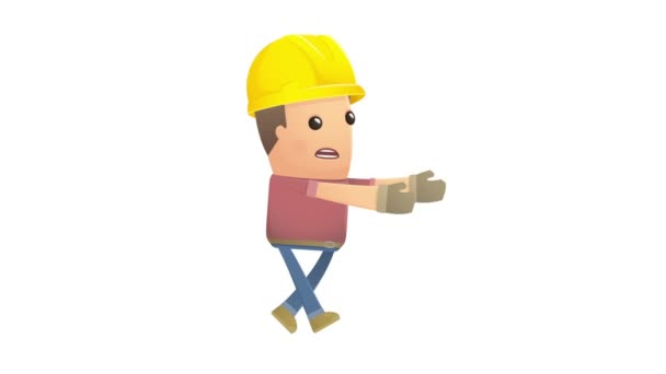Builder character goes under hypnosis