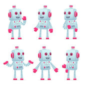 sada robota charakteru v různých pozicích