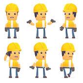 Auftragnehmer in verschiedenen Posen
