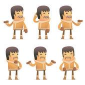 Fotografia set di caratteri eschimese in diverse pose