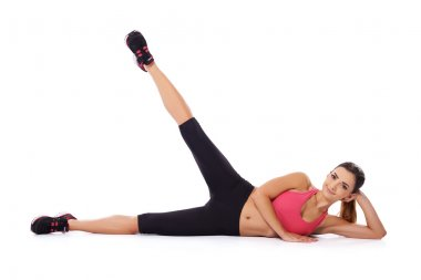 Beautiful woman doing a workout