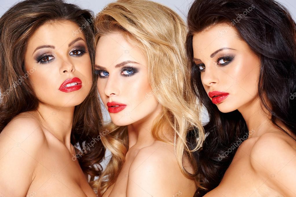 Stunning trio of beautiful women — Stock Photo © dashek ...