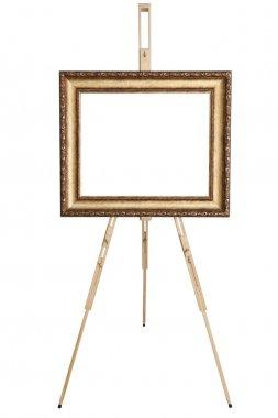 Blank art frame, wooden ease