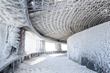 Interior with Frost and snow