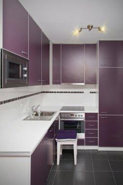 Modern small kitchen clean interior design