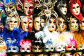 Fényképek Vintage velencei karneváli maszkokat csoportja