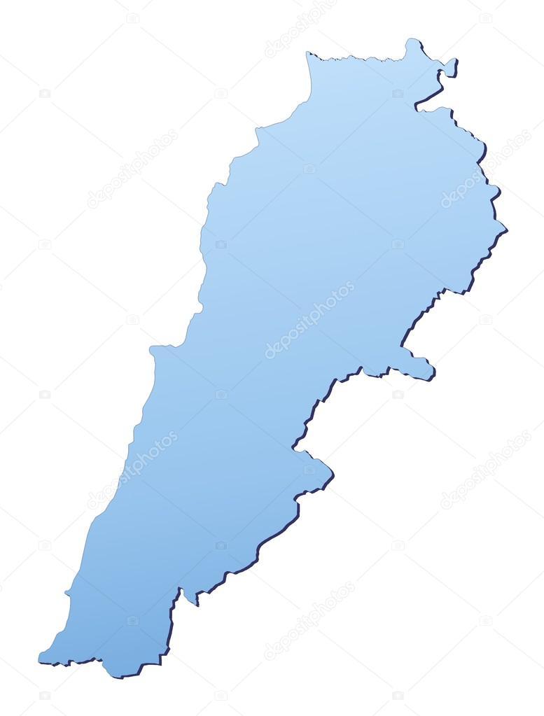 Lebanon Map Stock Skvoor