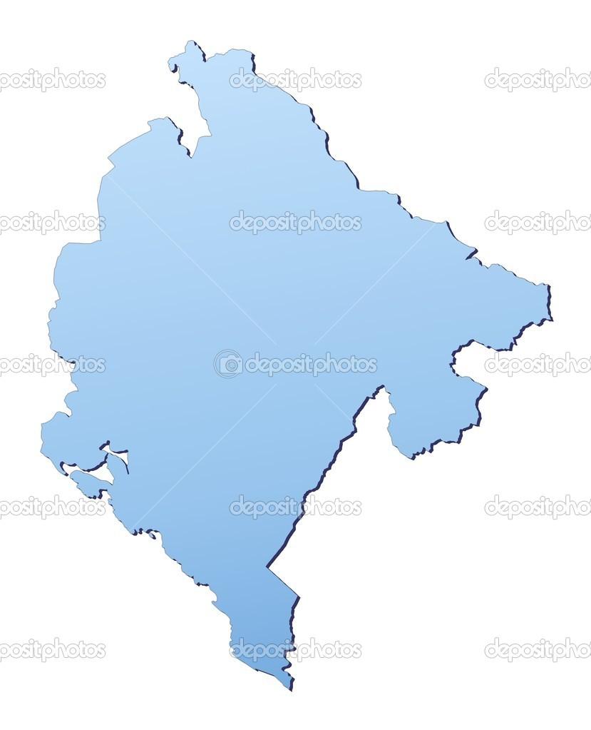 Montenegro Map Stock Photo Skvoor - Montenegro map download