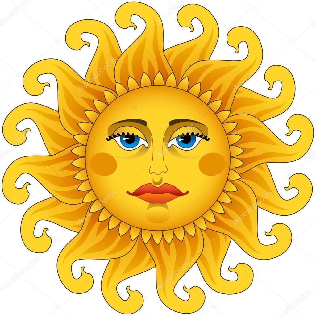 Big hot gold sun.